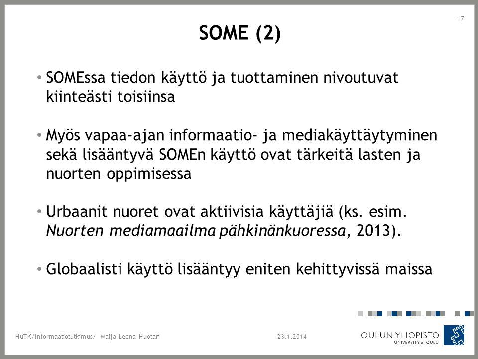 Some (2) SOMEssa tiedon käyttö ja tuottaminen nivoutuvat kiinteästi toisiinsa.