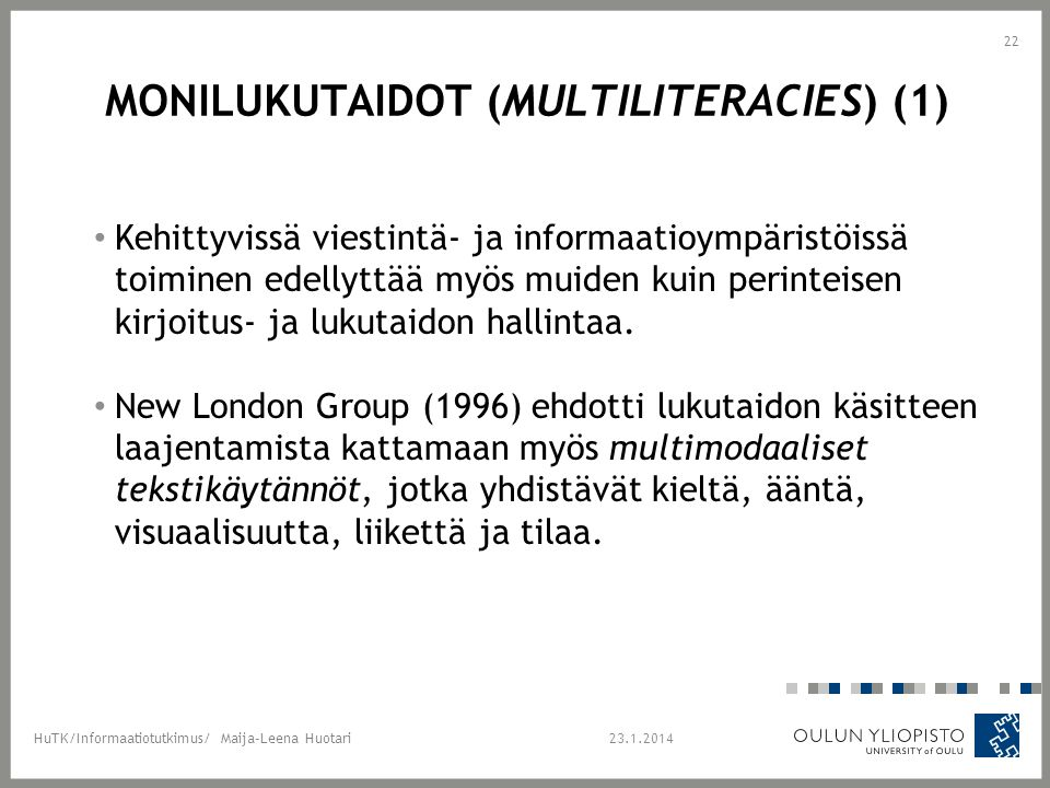 Monilukutaidot (Multiliteracies) (1)