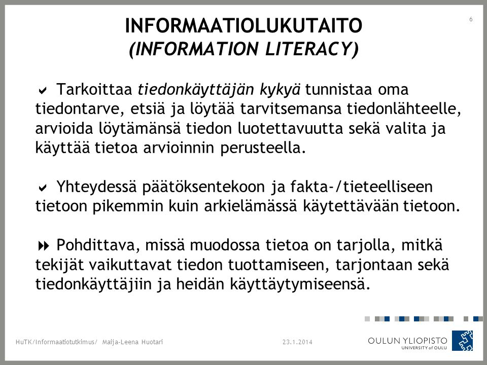 Informaatiolukutaito (information literacy)
