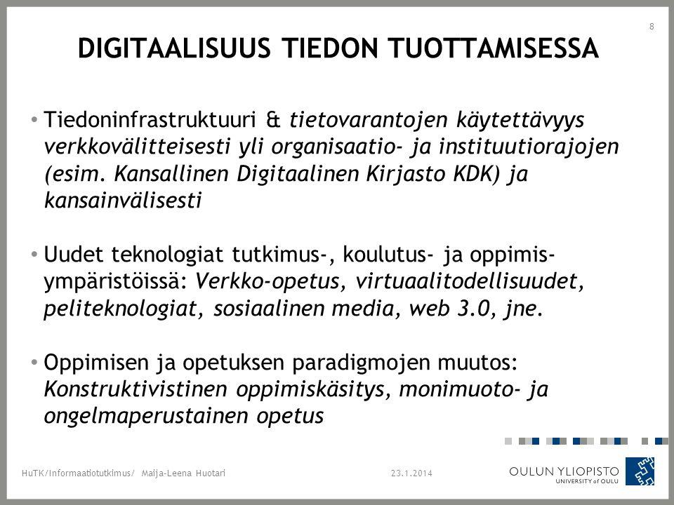 Digitaalisuus tiedon tuottamisessa
