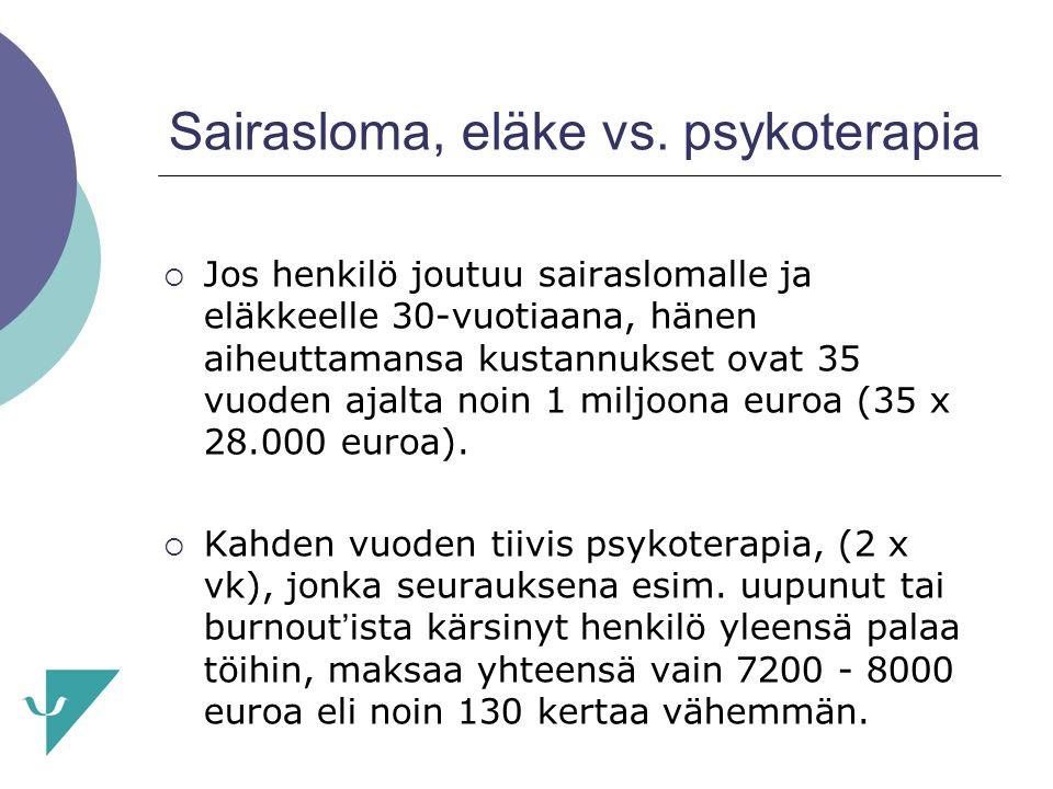 Sairasloma, eläke vs. psykoterapia