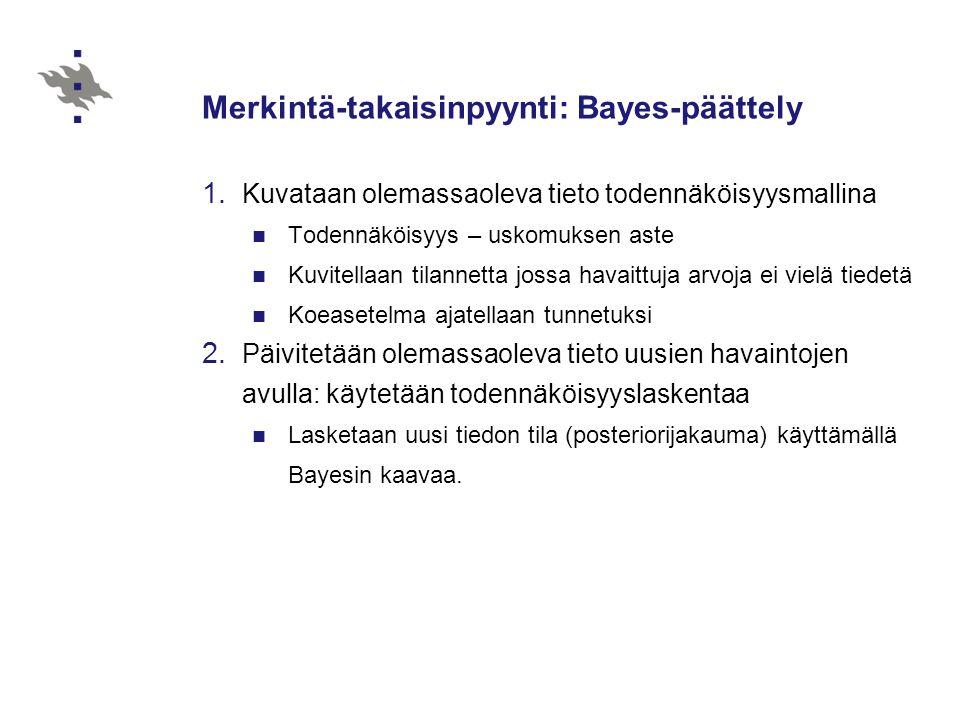 Merkintä-takaisinpyynti: Bayes-päättely