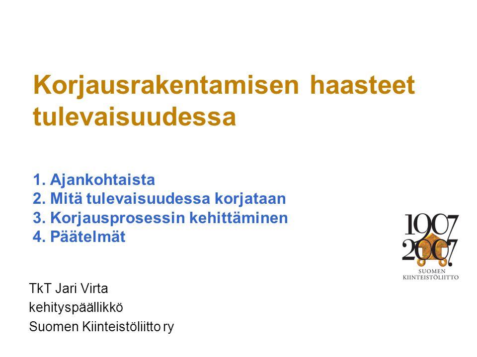 TkT Jari Virta kehityspäällikkö Suomen Kiinteistöliitto ry