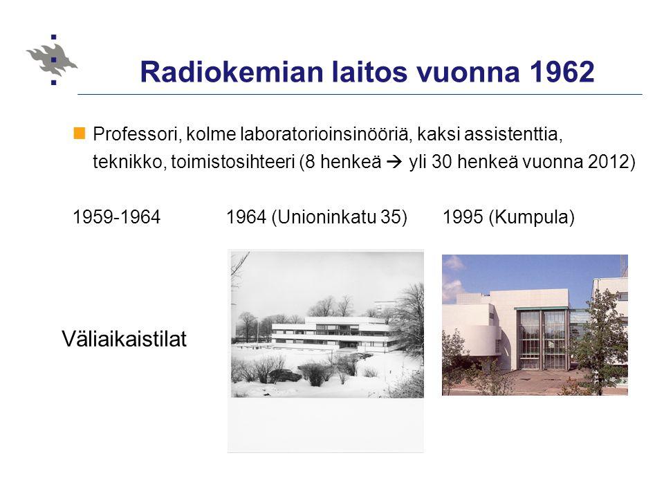 Radiokemian laitos vuonna 1962