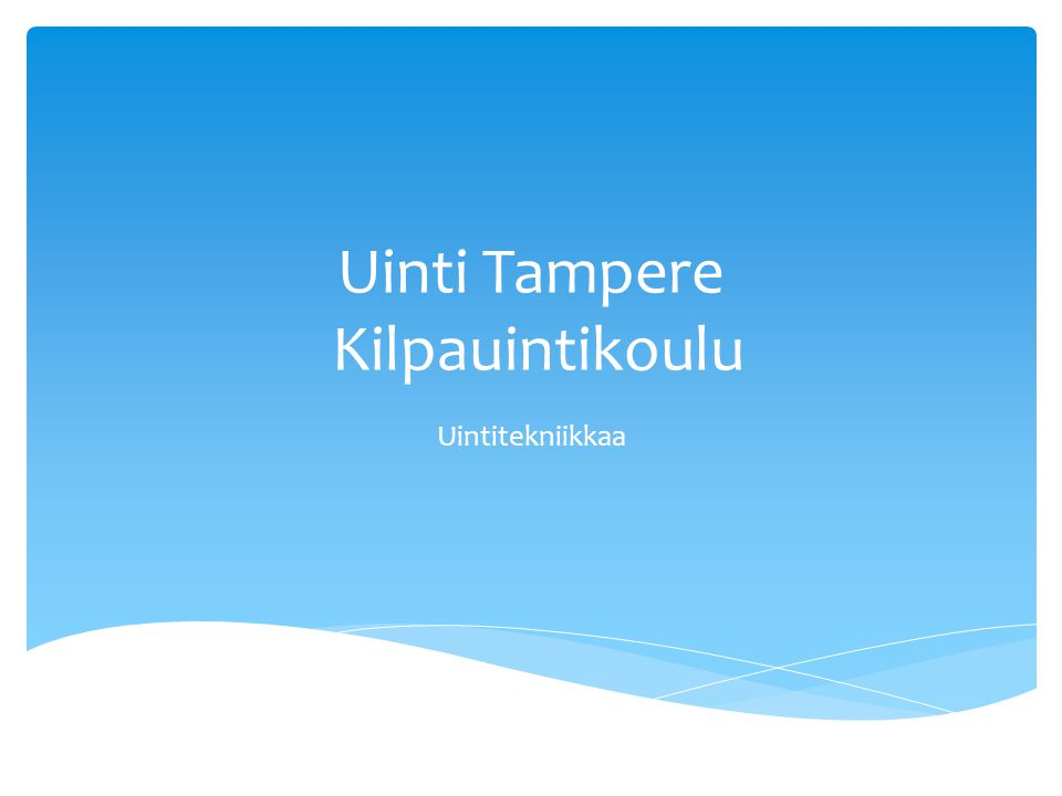 Uinti Tampere Kilpauintikoulu