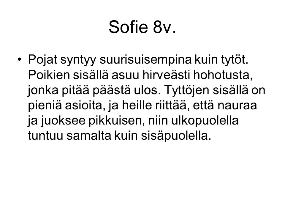 Sofie 8v.