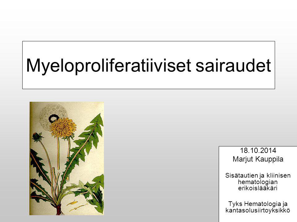 Myeloproliferatiiviset sairaudet
