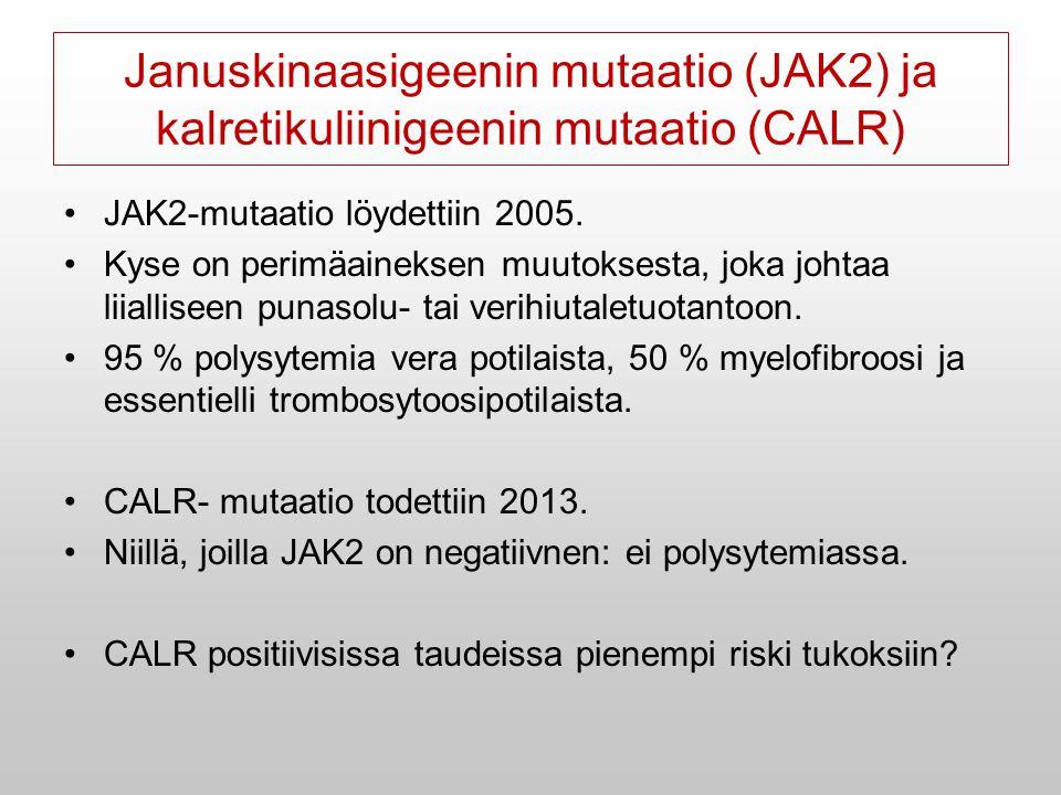 Januskinaasigeenin mutaatio (JAK2) ja kalretikuliinigeenin mutaatio (CALR)