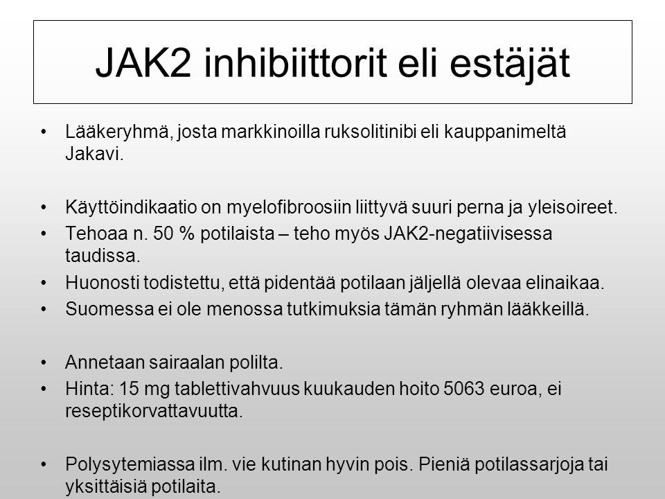 JAK2 inhibiittorit eli estäjät