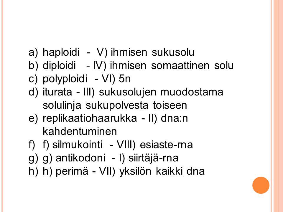 haploidi - V) ihmisen sukusolu