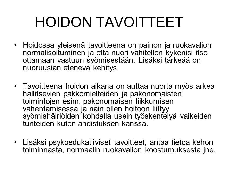 HOIDON TAVOITTEET