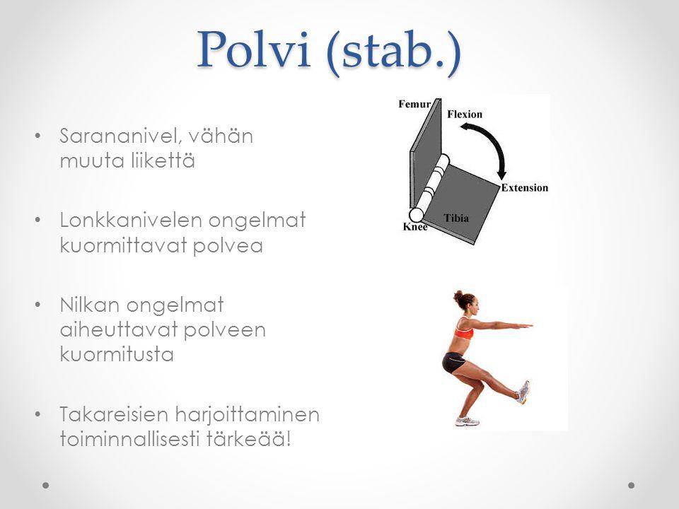 Polvi (stab.) Sarananivel, vähän muuta liikettä