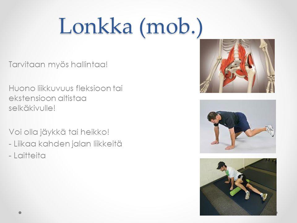 Lonkka (mob.) Tarvitaan myös hallintaa!