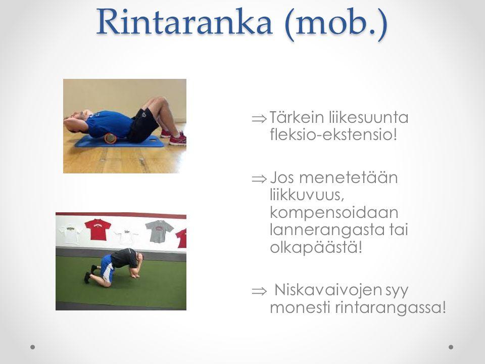 Rintaranka (mob.) Tärkein liikesuunta fleksio-ekstensio!