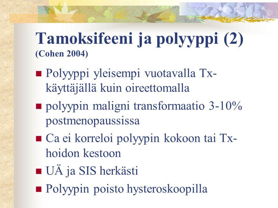 Tamoksifeeni ja polyyppi (2) (Cohen 2004)