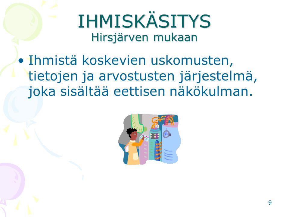 IHMISKÄSITYS Hirsjärven mukaan