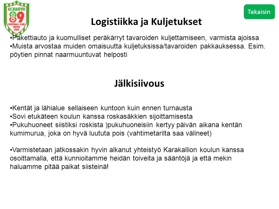 Logistiikka ja Kuljetukset
