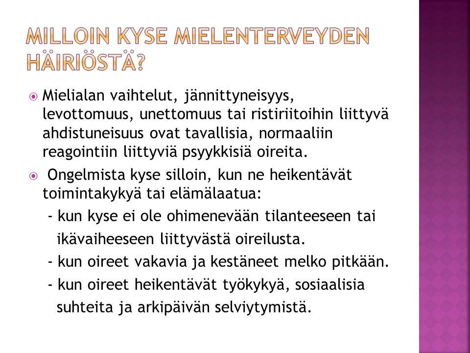 päihderiippuvuus oireet Espoo