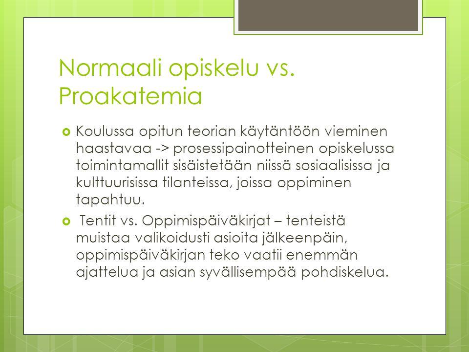 Normaali opiskelu vs. Proakatemia