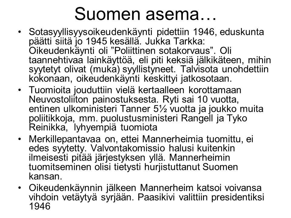Suomen asema…