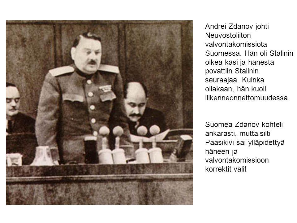 Andrei Zdanov johti Neuvostoliiton valvontakomissiota Suomessa
