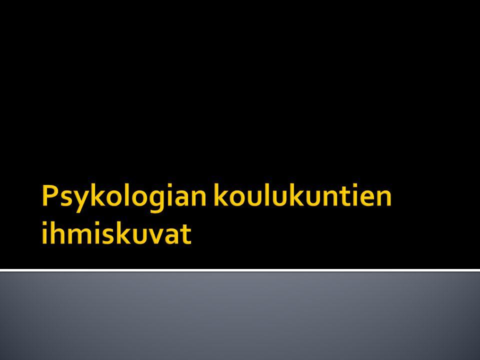Psykologian koulukuntien ihmiskuvat