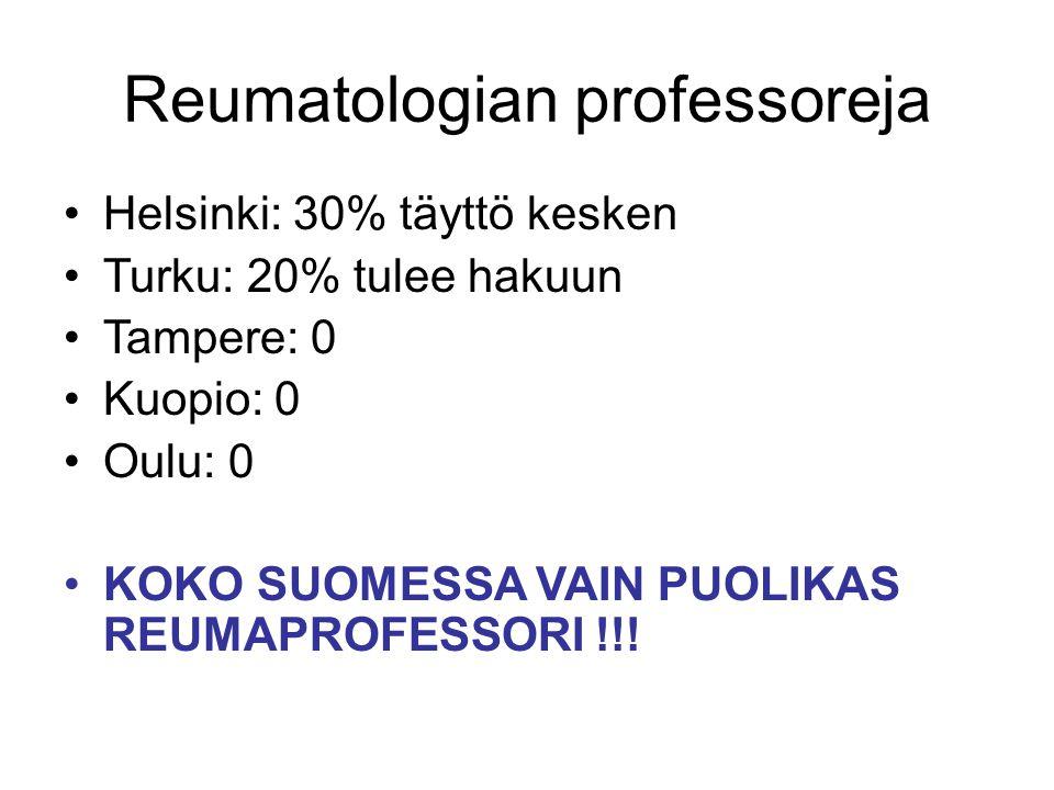 Reumatologian professoreja