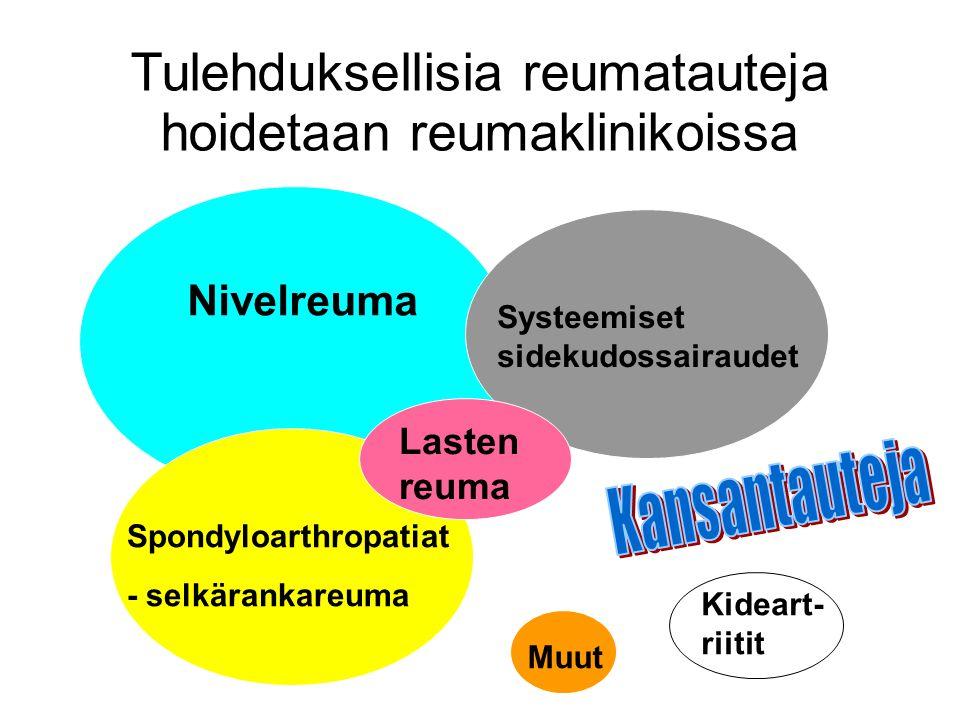Tulehduksellisia reumatauteja hoidetaan reumaklinikoissa