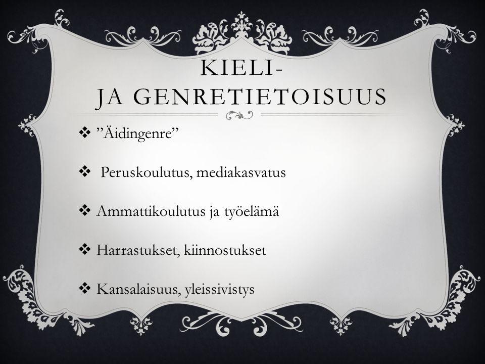 KIELI- JA GENRETIETOISUUS