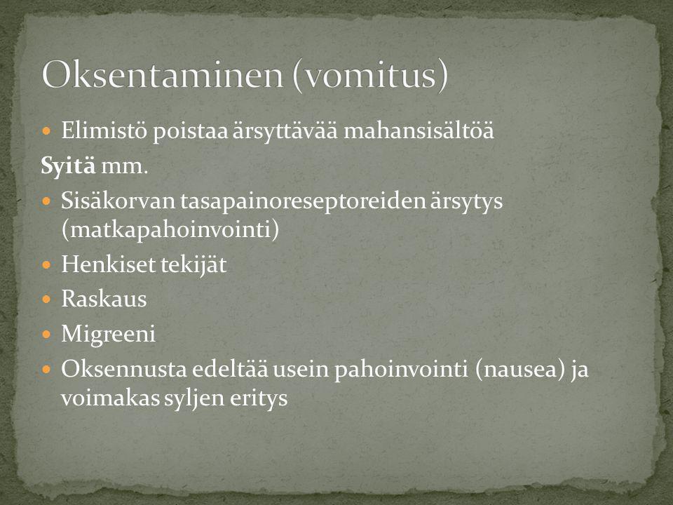 Oksentaminen (vomitus)