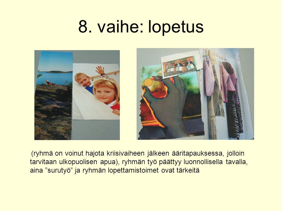 8. vaihe: lopetus