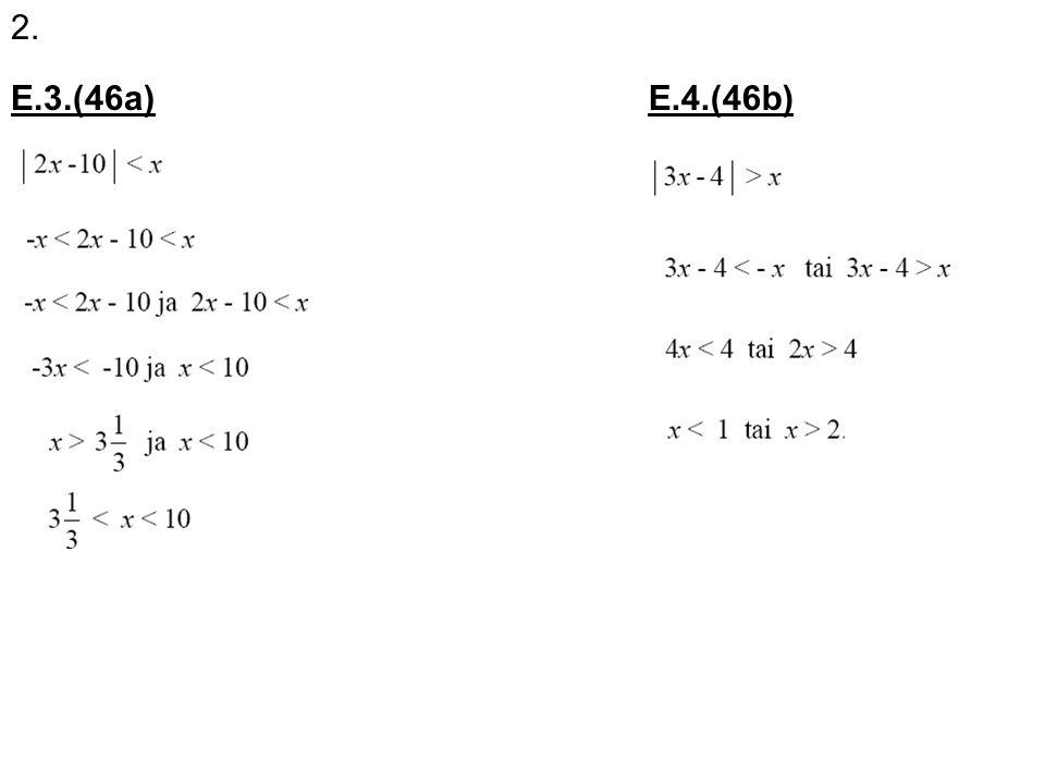 2. E.3.(46a) E.4.(46b)