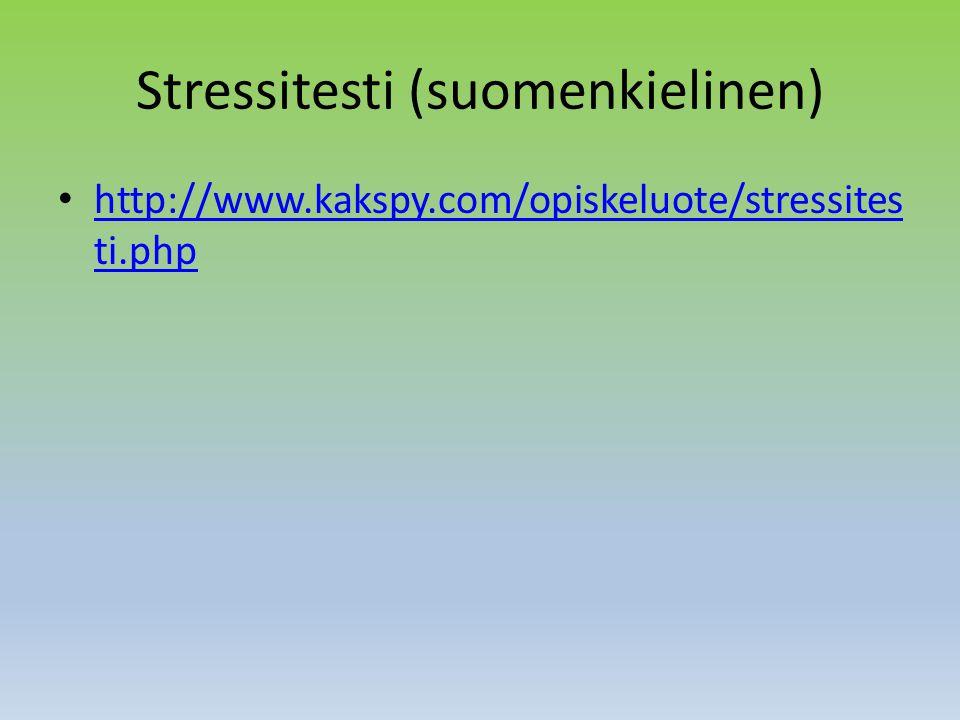 Stressitesti (suomenkielinen)