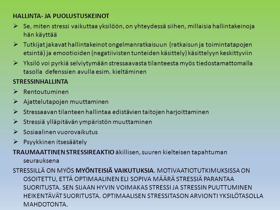 HALLINTA- JA PUOLUSTUSKEINOT