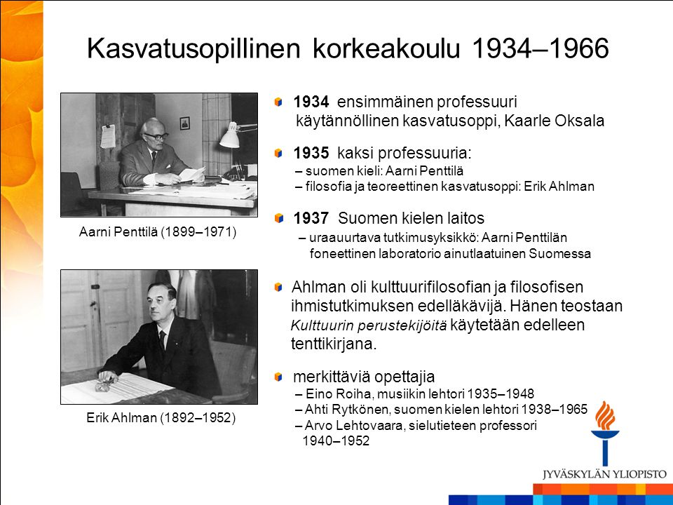 Kasvatusopillinen korkeakoulu 1934–1966