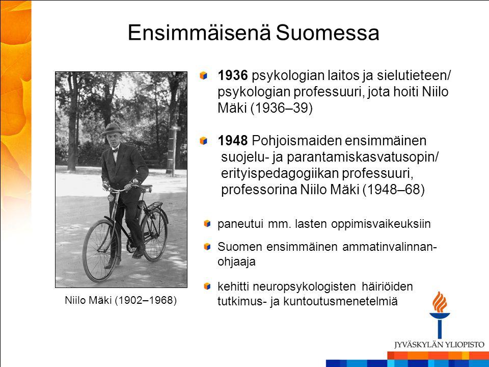 Ensimmäisenä Suomessa