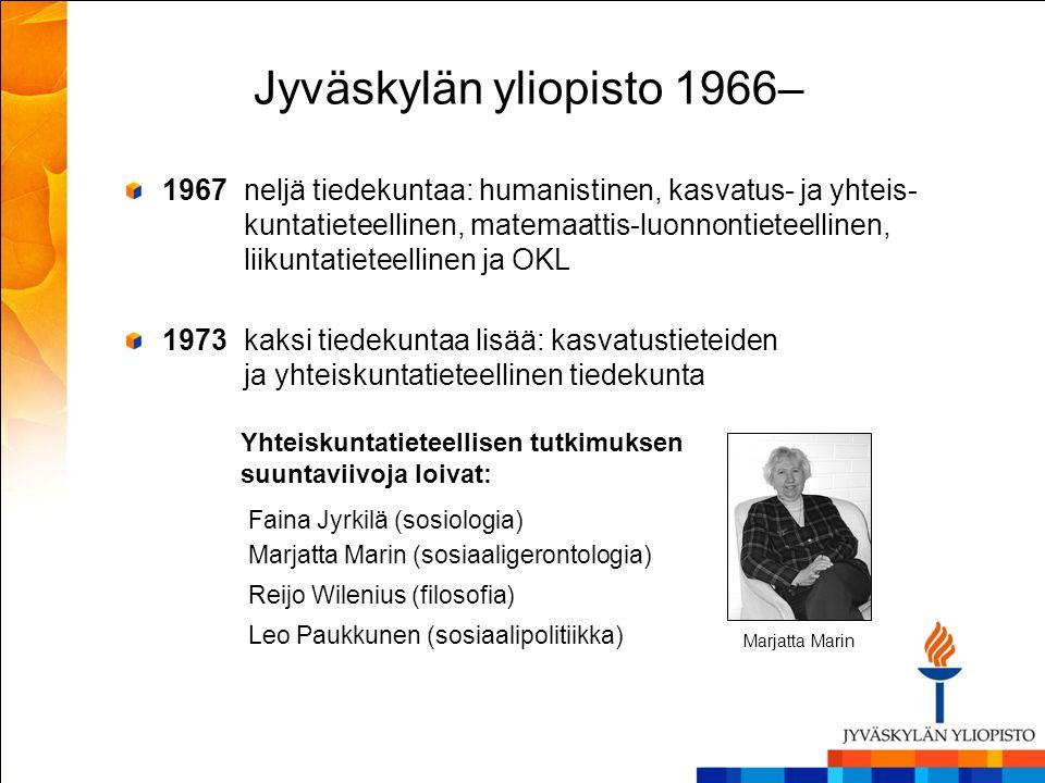 Jyväskylän yliopisto 1966–