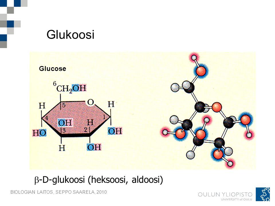 Glukoosi -D-glukoosi (heksoosi, aldoosi) Glucose