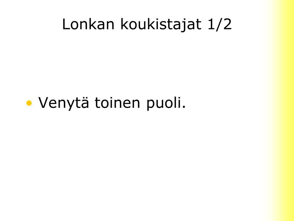Lonkan koukistajat 1/2 Venytä toinen puoli.