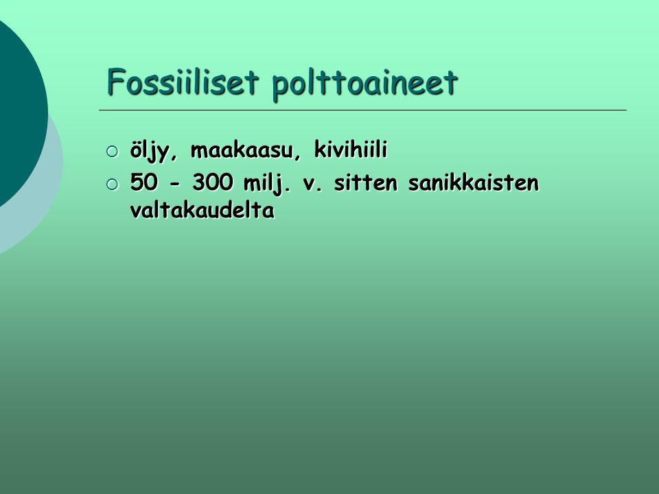 Fossiiliset polttoaineet