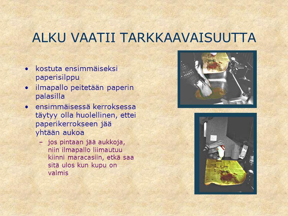 ALKU VAATII TARKKAAVAISUUTTA