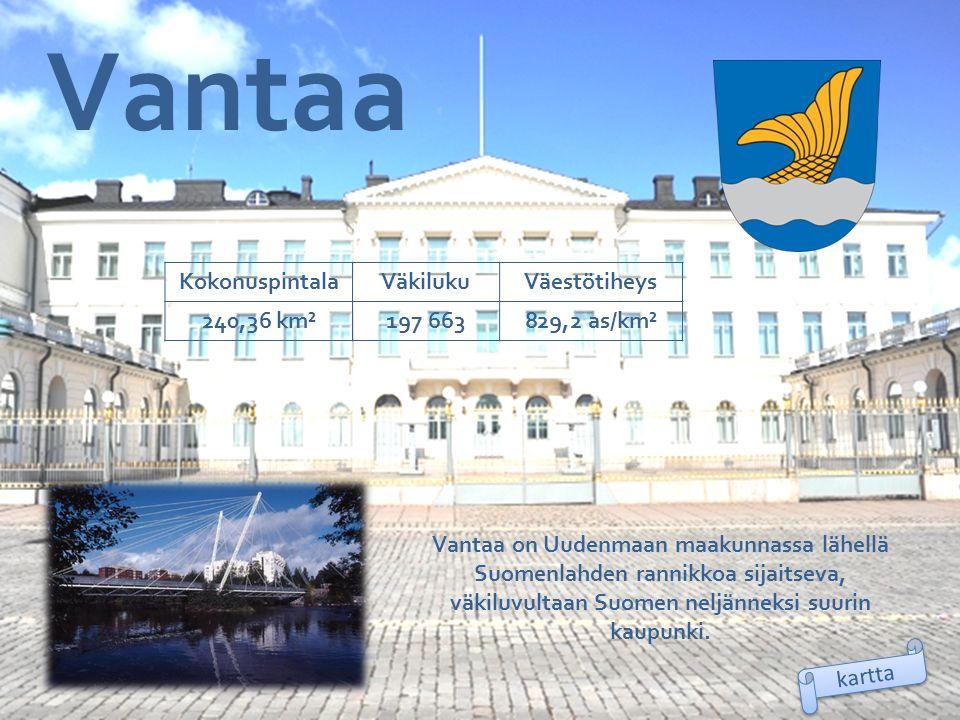 Vantaa Kokonuspintala Väkiluku Väestötiheys 240,36 km² 197 663