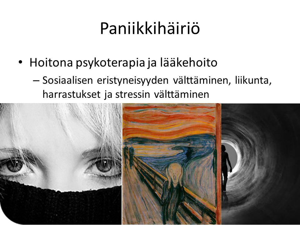Paniikkihäiriö Hoitona psykoterapia ja lääkehoito