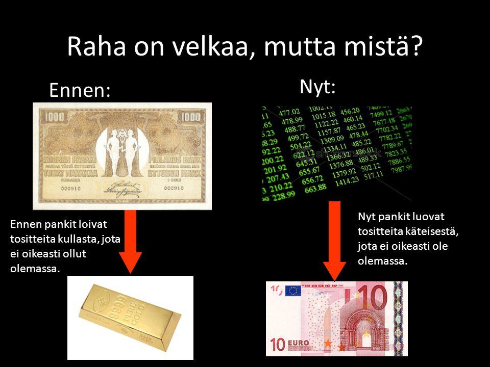 Raha on velkaa, mutta mistä