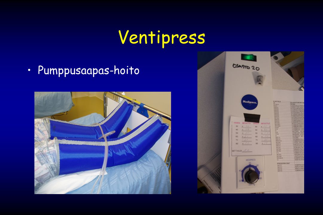 Ventipress Pumppusaapas-hoito