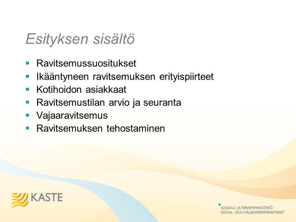 Esityksen sisältö Ravitsemussuositukset