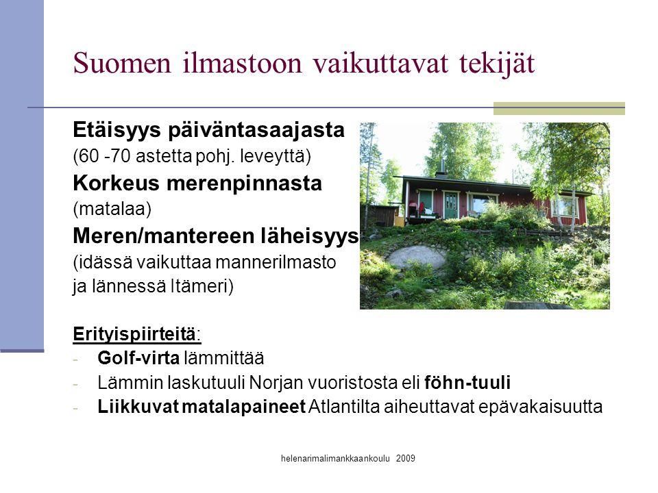Suomen ilmastoon vaikuttavat tekijät