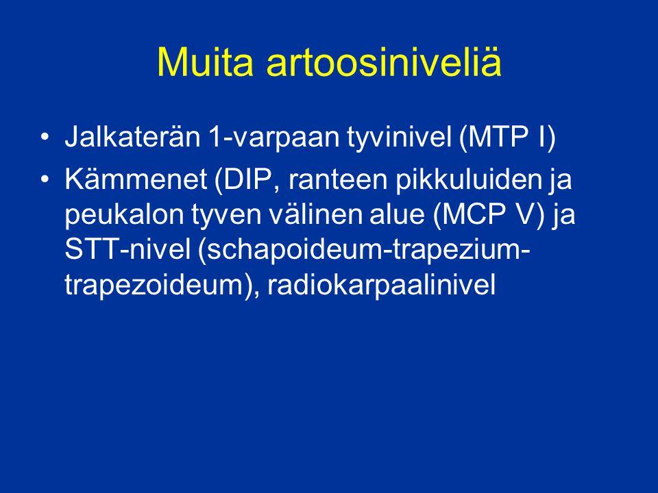 Muita artoosiniveliä Jalkaterän 1-varpaan tyvinivel (MTP I)