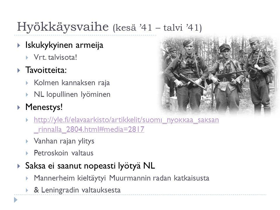 Hyökkäysvaihe (kesä '41 – talvi '41)