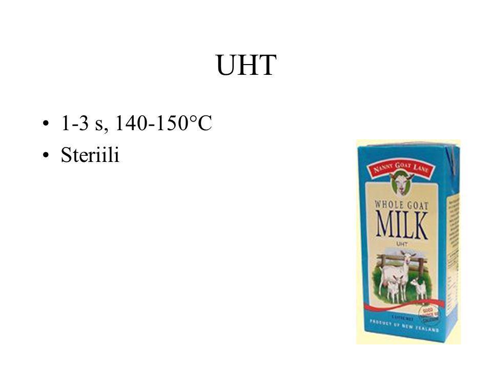 UHT 1-3 s, 140-150°C Steriili